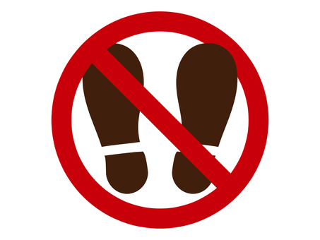 Prohibition of shoes