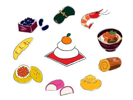 Osechi illustration