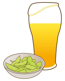Beer and Edamame 01