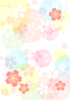 Cherry blossom and circle background