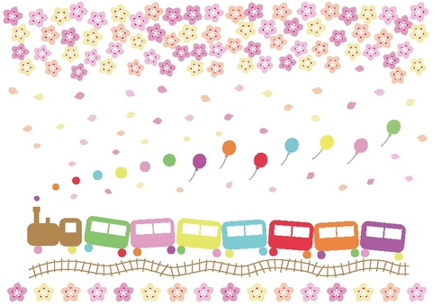 Fairy tale flower train