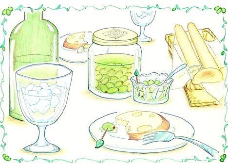 테이블에 Olive