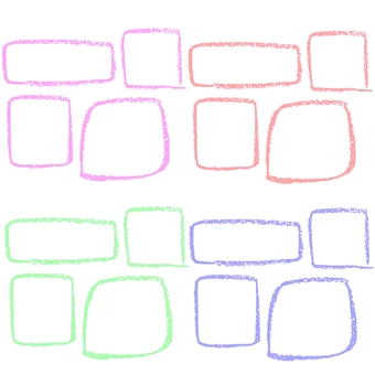 Square drawn with crayons