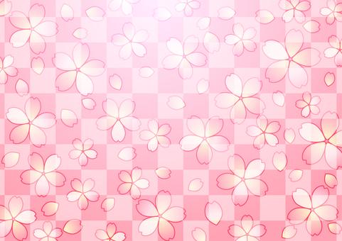 Checkered and cherry background
