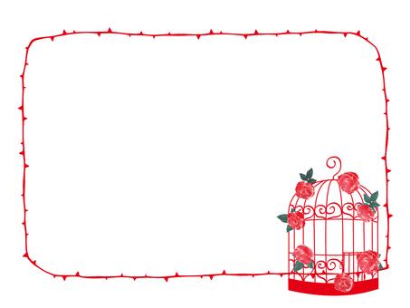 Fashionable bird cage card 4
