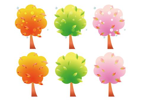 Spring / summer / autumn trees