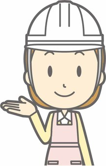 Apron housewife - helmet white - bust