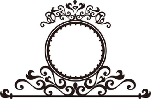 Decoration frame round