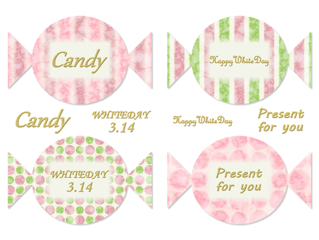 White day candy card Japanese pattern