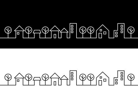 Cityscape simple line