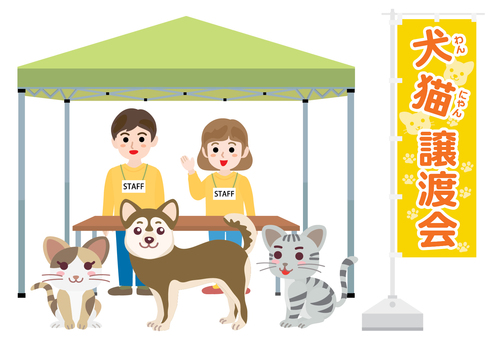 Dogs and Cats Crossing Club 01 Yellow Green