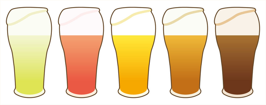 Colorful craft beer