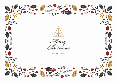 Winter background frame 015 Christmas