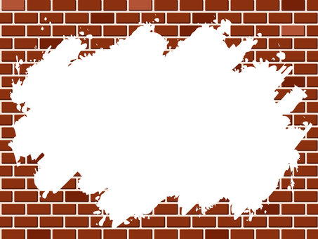 White paint and brick wall frame