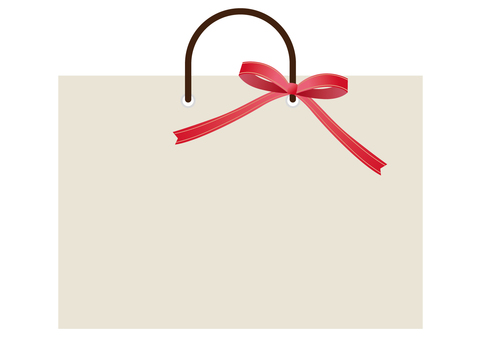 Shopping bag and red ribbon