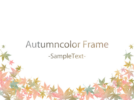 Fall color frame ver61