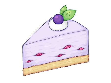 Blueberry rare cheese cake
