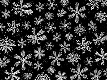 Handwritten snowflake