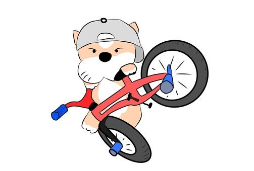 BMX flat land dog
