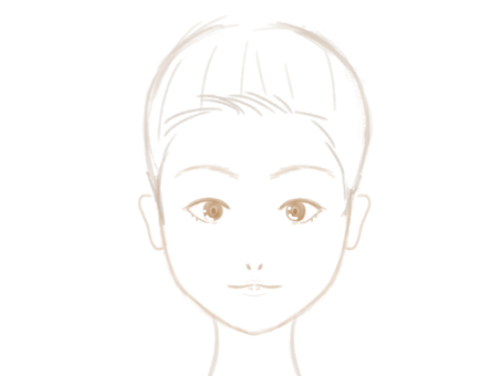 Makeup material face line round face