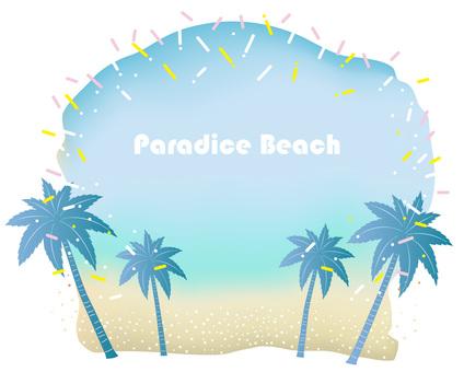 Beach resort background