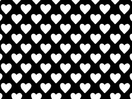 Heart pattern wallpaper monochrome
