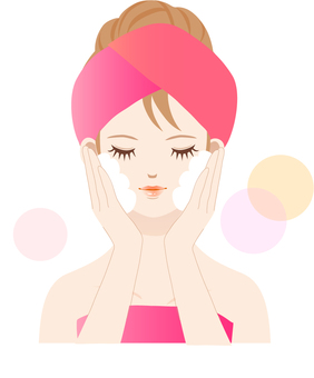 Women's Illustrated Washing Face