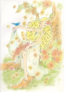 Maiden of a day when flowers fall