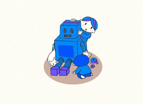ロボットを作ろう(青バージョン)