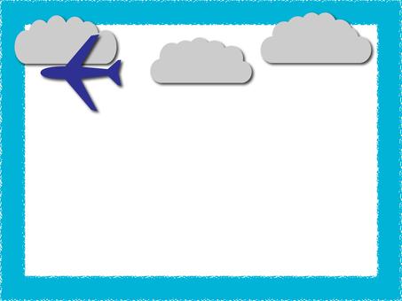 비행기와 구름의 프레임