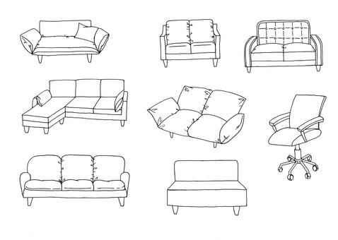 ㊽鋼筆沙發椅