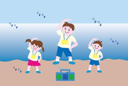 無線電練習老師和孩子