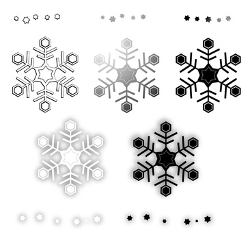 Snow crystal (for monochrome)