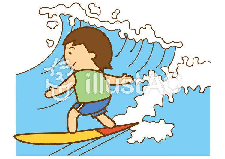 サーフィン4cのイラスト