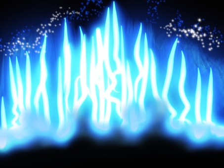 Blue flame simple