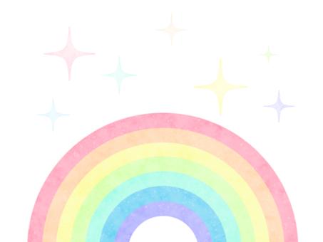 かわいい虹