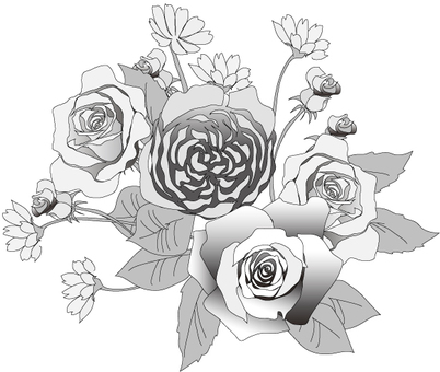 Flower Arrangement (Grayscale)