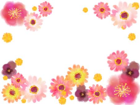 꽃 프레임 거베라 등