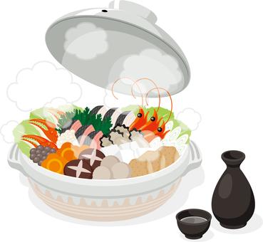Soup hot pot party sake