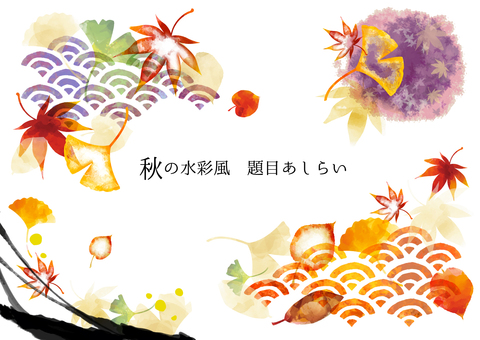 Japanese style decorative autumn 07