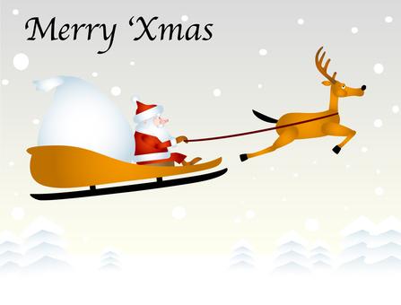 Santa Reindeer Sled
