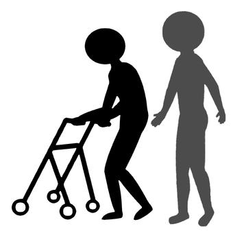 Walker with walker