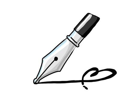 Fountain pen Heart