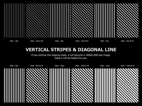 ストライプ&斜線 デザイン セット