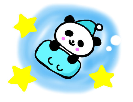 Sleeping panda (blue)