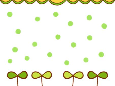 새싹과 물방울의 배경