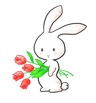 Flower rabbit 1