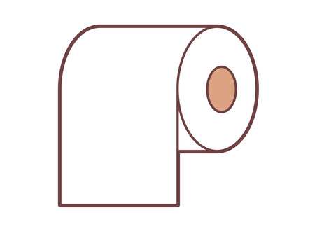 Simple toilet paper icon
