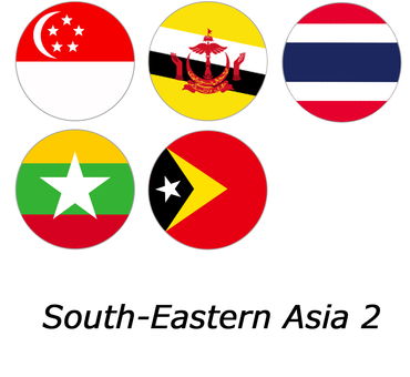 Marunouchi flag: Southeast Asia 2