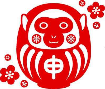 Hanko style Daruma illustration